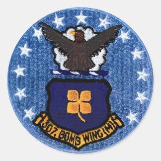 307th Etiquetas da asa da bomba (pequenas) Adesivo