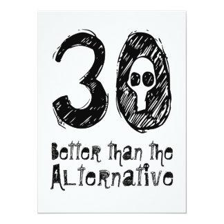 30 melhor do que aniversário engraçado Q30 do Convite Personalizado
