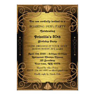 30a, festa de aniversário, mulher, estilo de convite 12.7 x 17.78cm