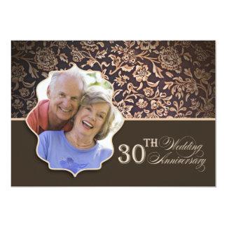 30a foto do aniversário de casamento convite 12.7 x 17.78cm