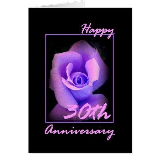 30o Cartão do aniversário de casamento com Rosebud