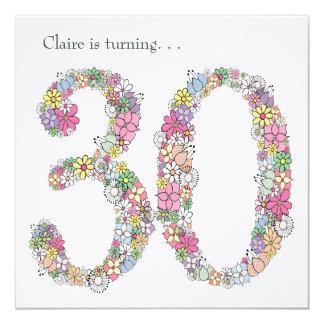 30o convite do costume da festa de aniversário de