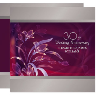 30o Convites da festa de aniversário do casamento