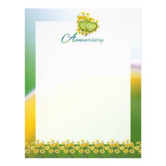 30o Páginas do álbum de recortes da festa de anive Papel De Carta Personalizados