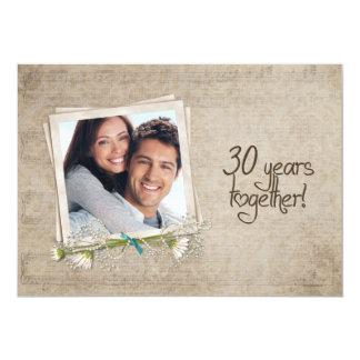 30o Renovação do voto do aniversário de casamento Convite 12.7 X 17.78cm