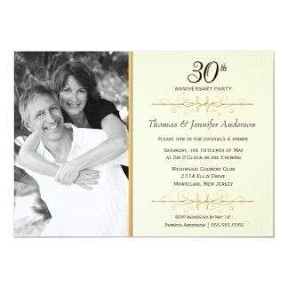 30os convites elegantes da festa de aniversário do convite 12.7 x 17.78cm