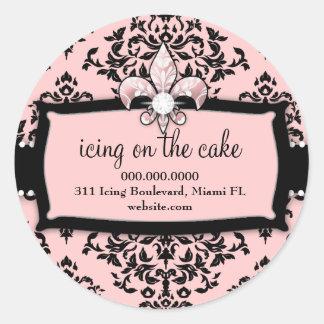 311 cereja sobre o bolo Cor-de-rosa doce Fleur Di Adesivo