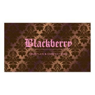 """311- Damasco """"puro"""" da trufa de chocolate de Black Cartão De Visita"""