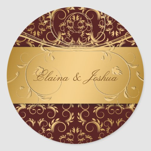 311-Golden diVine a etiqueta Brown Adesivo Redondo