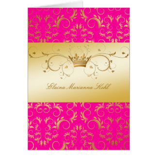 311-Golden diVine o rosa da paixão Cartão Comemorativo