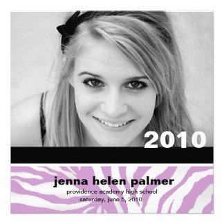 311-Graduation convite da zebra do anúncio  