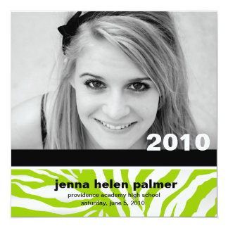 311-Graduation convite da zebra do anúncio |