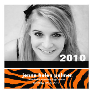 311-Graduation convite do anúncio  Tiger
