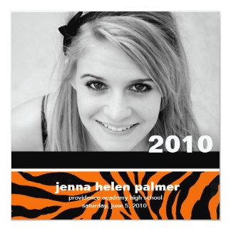 311-Graduation convite do anúncio |Tiger