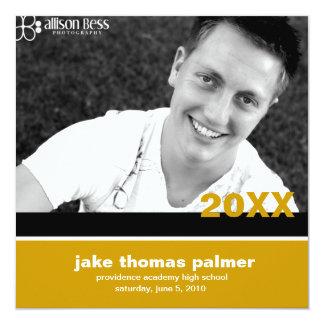 311-Graduation convite do ouro do anúncio |