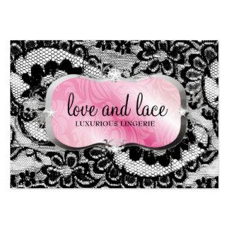 311-Lace de Luxe - bandeja cor-de-rosa Modelo Cartoes De Visitas