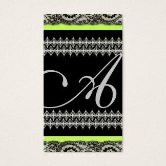 311-Lacey-Grace limão do monograma   Cartão De Visitas