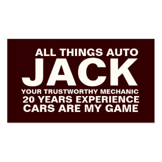 311 mecânico Brown Cartões De Visita