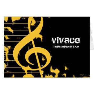 311-MUSICAL MAESTROS - AMARELO do GRUNGE Cartão De Nota