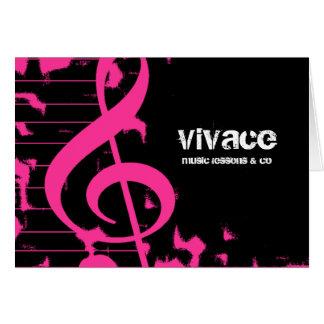 311-MUSICAL MAESTROS - ROSA do GRUNGE HOTT Cartão De Nota