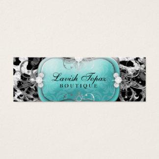 311 o leopardo pródigo do diamante do topázio cartão de visitas mini