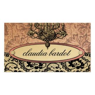 311 rosa do vintage de Frenchie Budoir | Modelo Cartão De Visita