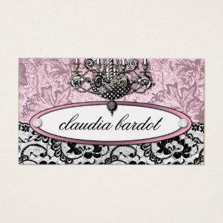 311 rosa do vintage de Frenchie Budoir | Cartão De Visitas