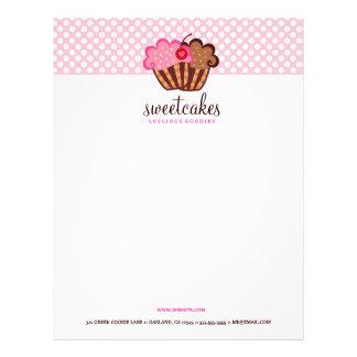 311-Sweet endurece o papel de carta do cupcake