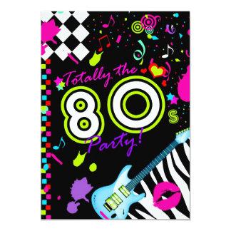 311-Totally o partido do anos 80 - guitarra de Convite Personalizado