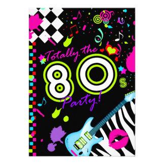 311-Totally o partido do anos 80 - guitarra de tur Convite Personalizado