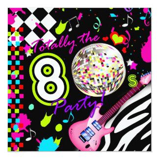 311 totalmente a bola do disco da guitarra do rosa convite quadrado 13.35 x 13.35cm