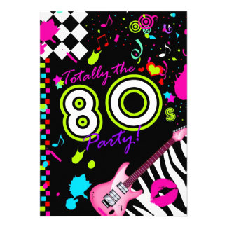 311 totalmente o partido do anos 80 convites personalizado
