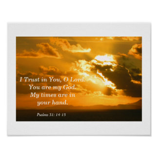 31:14 dos salmos - 15 pôster