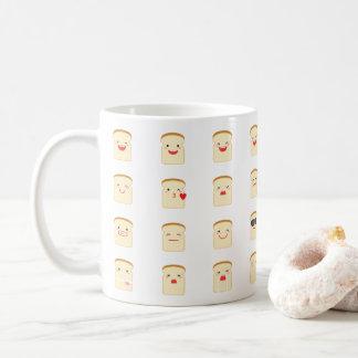 32 partes de caneca de Emojis do pão