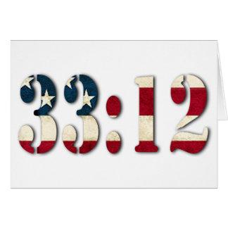 33:12 #1 CARTÃO COMEMORATIVO