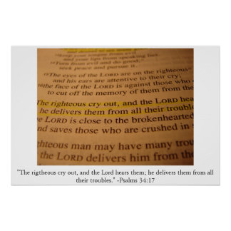 34:17 do salmo pôster