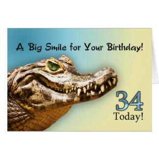 34o Cartão de aniversário