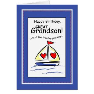 3541 excelente - aniversário religioso do veleiro  cartao