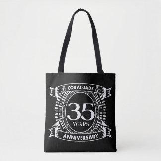 35a crista coral do jade do aniversário de bolsa tote
