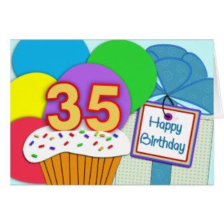35o cartão de aniversário feliz