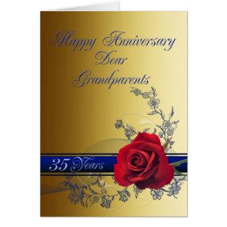 35o Cartão do aniversário para avós