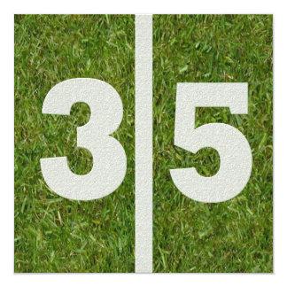 35o Convite de festas do futebol do aniversário