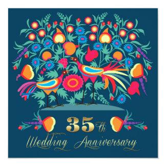 35o Convites da festa de aniversário do casamento