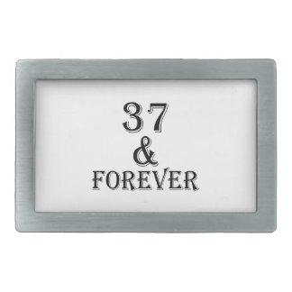 37 e para sempre design do aniversário
