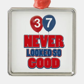 37th design do aniversário ornamentos para arvore de natal