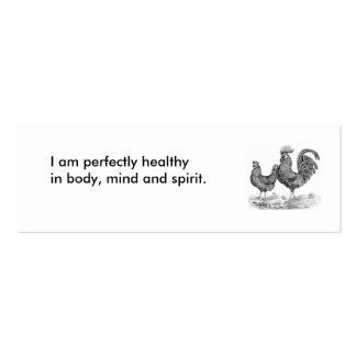 383, eu sou perfeitamente saudável no corpo, na cartões de visita