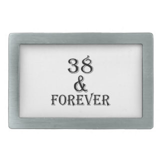 38 e para sempre design do aniversário