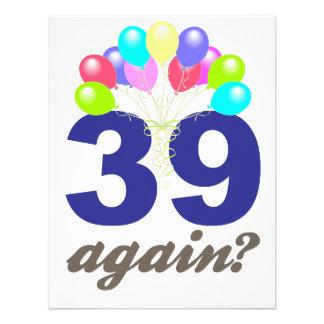 39 outra vez Presentes de aniversário lembranças Convite