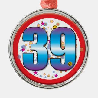 39th Aniversário v2 Enfeite De Natal