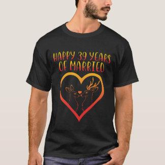 39th camisa feliz do aniversário para o casal